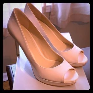 New Marc Fisher Nude Peep Toe Pumps